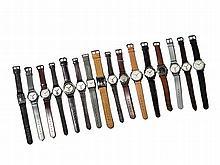 Mixed Lot Huber, 16 Wristwatches, Switzerland, 60-70s