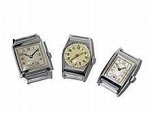 3 Wristwatches, Switzerland/ Germany, Around 1970