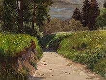 Oswald Grill (1878-1964), Painting 'Sommer im Salzkammergut'