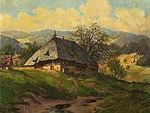 Karl Hauptmann (1880-1947), Painting, Spring in Elztal, 1934