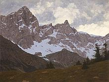 Felix Heuberger (1888-1968), Oil Painting, Karwendel, 1927