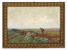 Anton Hans Karlinsky (1872-1945), Oil Painting, Harvest, 1910