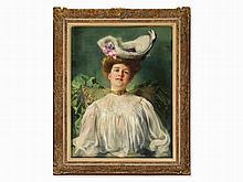Ferdinand Max Bredt (1868-1921), Painting, Lady Portrait, 1906