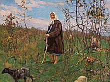 Konstantin Semenovich Vysotskij, Beautiful Shepherdess, 1928