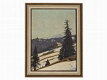 Hermann Dischler (1866-1935) 'Todtnauer Hütte mit Belchen' 1907