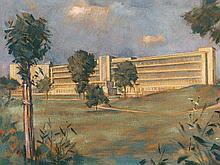 Heinrich Krause (1885-1983), Futuristic Building Complex, 1930