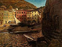 Eduard Ameseder (1856-1938), Painting, Vernazza/Italy, c. 1930