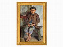 Nikolaj P. Bogdanov-Belsky, Painting, Boy with Letter, 1930