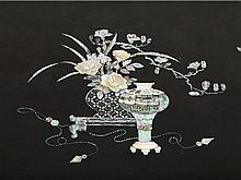 Laque Burgauté Kang Table with mother of pearl, Qing Dynasty
