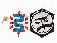 Flanagan (1941-2009) & Sugai (1919-1996), 2 Kites, Japan, ´88