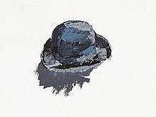 Gérard Gasiorowski (1930-1986), Oil Drawing, Hat, France, 1973