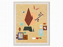 Otto Hofmann (1907-1994), Oil Painting, Composition, 1985