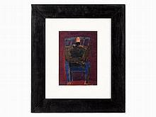 Hermann Bachmann (1922-1995), Man on Blue Chair, 1962