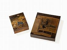 Suzuri Bako Lacquer Box and Writing Box, Japan, 19th C