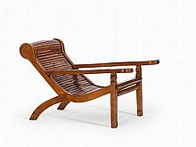Rare Moon-Gazing Bamboo Chair, China, Qing