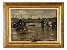 Alfred Guillou (1844-1925), Harbor Of Corncarneau, c. 1900
