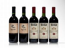 2 bottles 1994 Vigorello & 3 bottles 1995 Antinori Tignanello