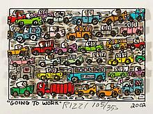 James Rizzi, Going to Work, 3-D Design, 2002