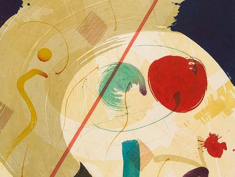 Werner Merzhäuser, Etching 'Abstract Composition', around 1990
