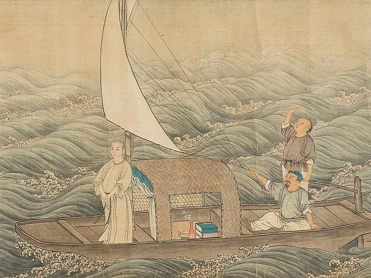 SHEN Zongqian (1736-1820) Attr., Against Wind and Waves, 18th C
