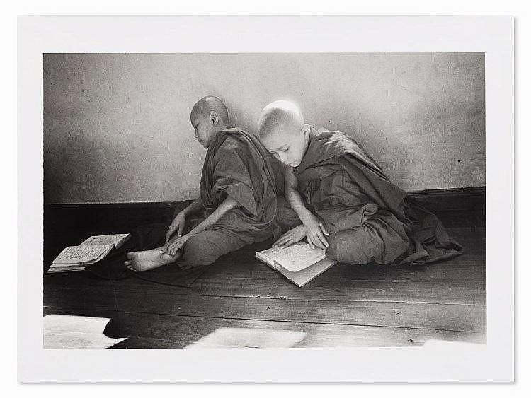 Beat Presser, Monks Studying Scriptures, Photograph, 2002