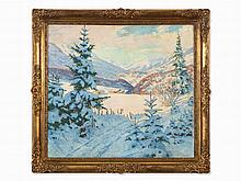 Fritz Osswald, Snowscape, Painting, 1st Half 20th C.