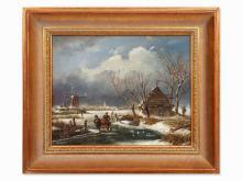 Ed van Heck, Winter Landscape, Netherlands, c. 1990