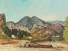 Jean Paul Schmitz (1899-1970), Rocca San Stefano, Oil, c. 1934
