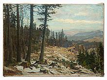 Fritz Discher, Oil Painting, Alpine Landscape, Germany, c. 1900