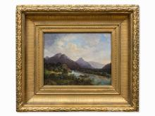 Oil Painting, Romantic Mountainscape, Germany, c. 1860