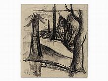 Ferdinand Carl Cürten (1892-1945), Parkland, Charcoal, 1923