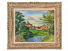 Roland Mascart, Oil Painting 'Les Échardières', 1942