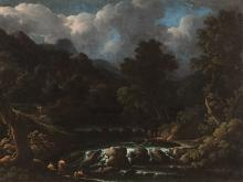 Glade with Stream, Oil Painting, 18th Century