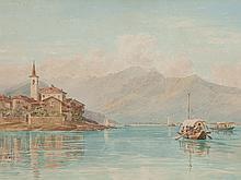 "Charles Jones Way, Water Colour ""Lake Como"", around 1900"