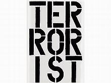 Christopher Wool, (Terrorist), from Black Book, 1989