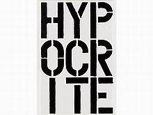 Christopher Wool, (Hypocrite), from Black Book, 1989