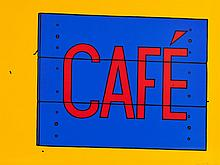 Patrick Caulfield, Café Sign, 1968