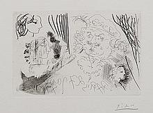 Pablo Picasso, Rembrandt et Têtes de Femmes, 1934