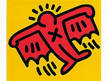 Keith Haring, Icon #4, from Icons, 1990