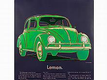 Andy Warhol, Volkswagen, from Ads, 1985