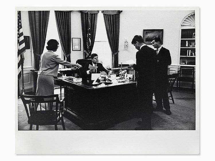 Arthur Rickerby, JFK With Staff In The Oval Office, USA, 1962