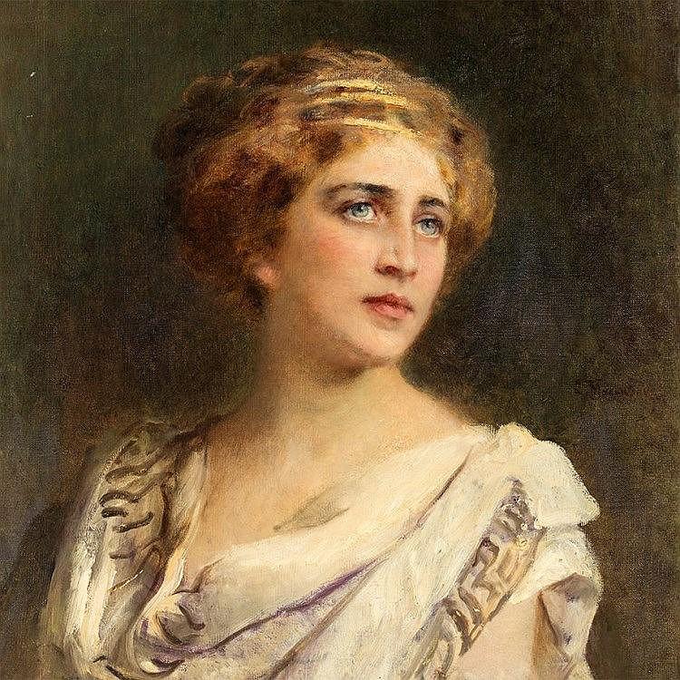 Konstantin E. Makovsky, Portrait of a Roman Woman, c. 1900/1
