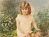 Stepan F. Alexandrovsky (1842-1906), Girl, Watercolor, 1885, S. F. Alexandrovskij, Click for value