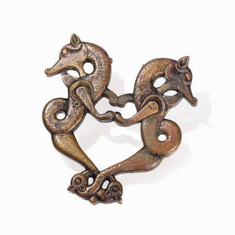 Dragon shaped brass door knocker jazira se anatolia c 1 - Dragon door knocker ...