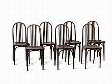 Thonet, 7 Coffee House Chairs, Model A 739, 1906