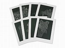 Kiki Smith, Linger (Portfolio), 8 Linocuts, 2009