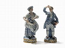 Meissen, A Pair of Gardener Figures, Porcelain, Late 19th C.