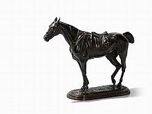 John Willis Good, Saddled Horse, Bronze, England, c. 1870