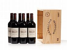 Original wooden case, 6 bottles 1997 Ornellaia, Tuscany