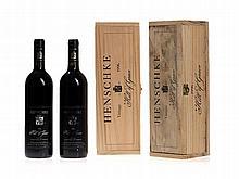 2 original wooden cases, 2 bottles 1996 Henschke Hill of Grace